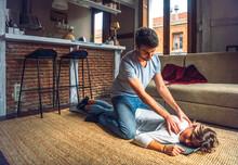 Careful Man Giving Massage