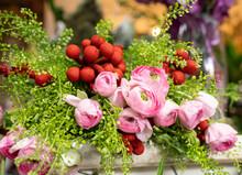 Flower Arrangement At Flower Shop
