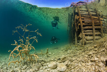 Scuba Diver Exploring LakeAtter