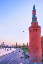 The Moskvoretskaya Tower Of Moscow Kremlin, Russia