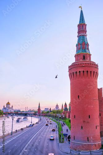 The Moskvoretskaya Tower of Moscow Kremlin, Russia Fototapeta