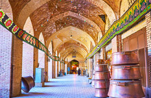 The Coppersmiths' Alley Of Ganjali Khan Bazaar, Kerman, Iran