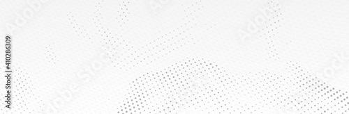 Fototapeta White Gray background. 3d dotted surface. Futuristic landscape. Technology presentation backdrop. Vector illustration obraz