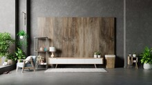 Cabinet Designs For Living Room On Wooden Wall Background.