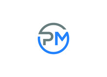 Pm Logo Design Vector Icon Template With White Background
