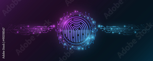 Photo Futuristic fingerprint