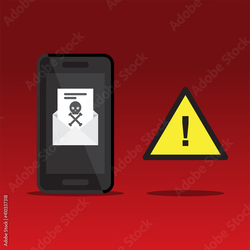 Canvas Print Alert emails with viruses in phone