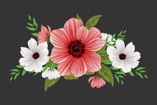 Flower Wreath, This Is An Editable Eps10 Type Wreath Vector File