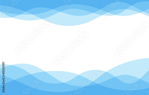 Obraz Blue water wave sea line curve background banner vector illustration. - fototapety do salonu