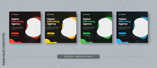 Obraz Digital marketing agency social media post template - fototapety do salonu