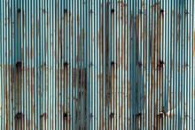 錆び付いたトタンの壁面 テクスチャ