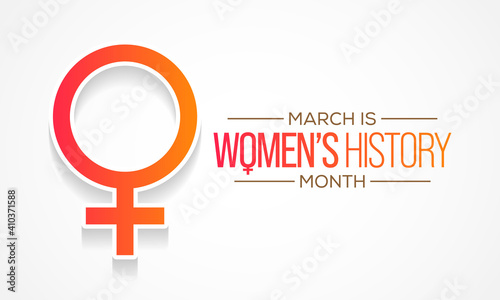 Obraz Women's History Month is an annual declared month that highlights the contributions of women to events in history and contemporary society, observed in March. Vector illustration design. - fototapety do salonu