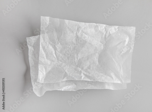 Obraz crumpled sheets of white baking paper - fototapety do salonu