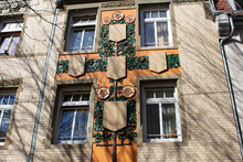 Altstadt In Stuttgart Alte Häuser Mit Bunter Fassade