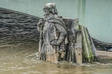 Zouave Statue (1850) - Most Famous Feature Of Pont De Alma. The Zouave Statue Has Acted As A Measuring Instrument During The Floods. Paris, France.