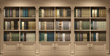 Wall wooden background classical library books or library