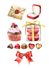 Valentines Day Clip Art Candy Heart Love Sweets Engagement Ring