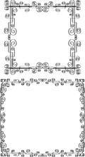 Vector Iillustration Of Decorative Borders From Calligraphic Swirls