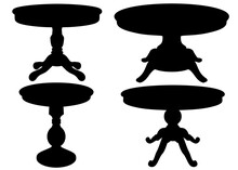 Round Table For The Living Room, Set.