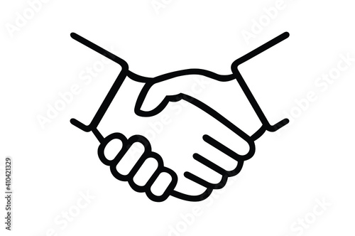 Business handshake , contract agreement flat vector icon for apps and websites for your design