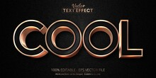 Cool Text, Luxury Rose Gold Editable Text Effect On Black Canvas Background