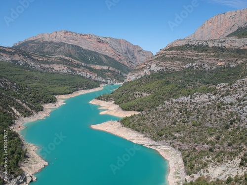 Vistas aéreas del desfiladero de Montrebei entre Catataluña y Aragón Fototapeta