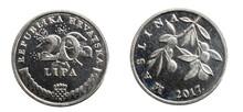 Twenty Croatian Lipa Coin Isolated On White Background