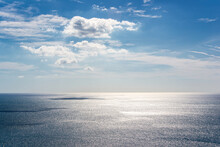 Blue Sky And Calm Sea For Background