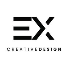 Modern Letter EX Logo Design