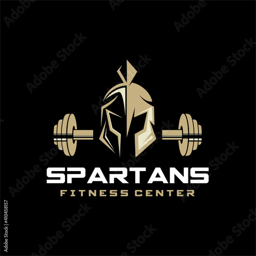 Photo Spartan Fitness And Gym Logo Vector
