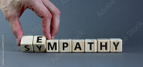Photo Sympathy or empathy symbol