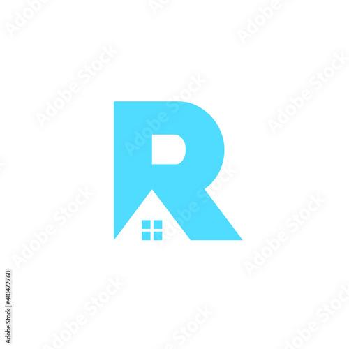 Obraz Initial R House Logo Design - fototapety do salonu