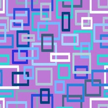 Seamless Pattern Of Rectangles On A Lilac Background For Textiles.