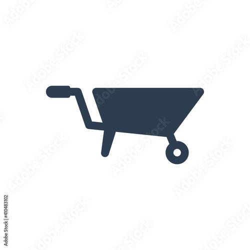 Photo Barrow cart icon sign symbol