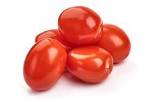 Fresh Tomatoes, Close-up, Isolated On White Background
