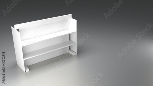 Gondola mockup, retail display design, original 3d rendering © tostphoto
