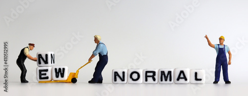 Fotografía The concept of preparing a New Normal