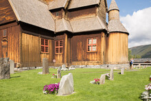 Medieval Wooden Church Of Lom In Norway