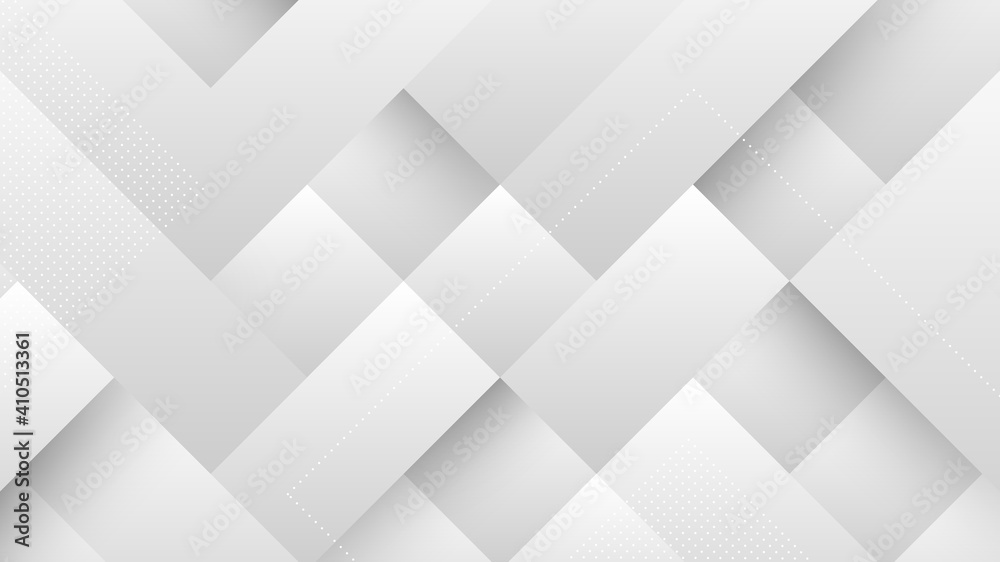 Fototapeta Abstract Modern Background with Gray White Gradient Pastel Color and Square Shape Element