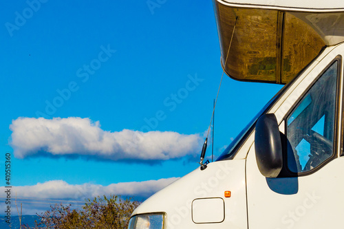 Camper camping on nature Fototapeta