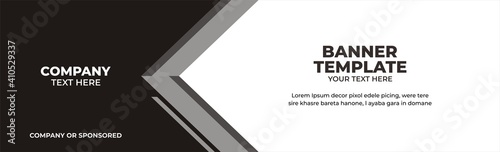 Illustration vector graphic banner template, perfect for advertising, banner, banner corporate, etc