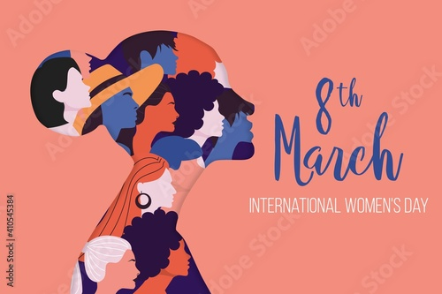 International Women S Day Illustration With Profile Woman