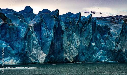 Canvas Print View of the Glacier edge in Los Glaciares National Park in Argentina