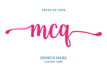 MCQ Lettering Logo Is Simple, Easy To Understand And Authoritative