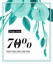 Shop Now, Seventy Percent Sale, Do Not Miss Only One Day, Coupon
