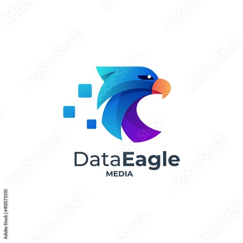 Photographie Vector Logo Illustration Eagle Gradient Colorful Style.