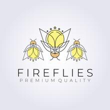 Creative Firefly Logo Vector Illustration Design Graphic
