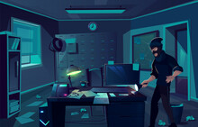 Night Robbery In Cabinet Of Private Detective