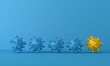 New Varient Strain Of Coronavirus Covid-19 Mutation Of Virus. 3D Rendering