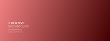 Abstract Coral Pink Gradient Color Banner Background